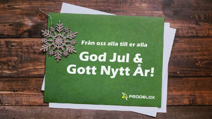 God Jul önskar Prodelox